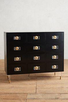 Lacquered Regency Twelve-Drawer Dresser #anthropologie