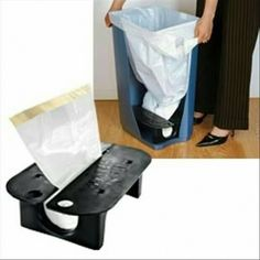 Store garbage bags at the bottom of garbage can http://s.click.aliexpress.com/e/Jyby7Ai