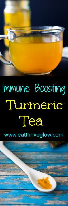Antioxidant rich, superfood turmeric tea recipe! Has honey and peppermint for fighting cough and colds. Keeps you smart & healthy too!
