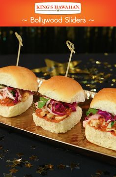 Bollywood-inspired sliders for the international movie lovers.