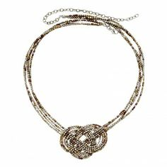 Mixed Metals Knot Necklace - Necklaces - Jewelry - Products | $40