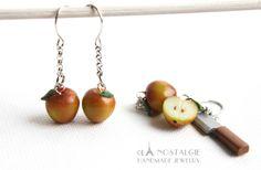 Spring Apples Dangle Earring Jewelry Handmade by LaNostalgie05