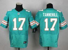 Men's Miami Dolphins #17 Ryan Tannehill Aqua Green Alternate 2015 NFL Nike Elite Jersey
