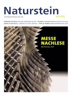 Naturstein 11/2015: Marmomacc 2015 - Friedhof & Grabmal im Fokus - Devota 2015 & Best Practice