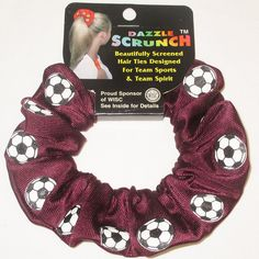 Soccer Dazzle Scrunchie Many Colors Available ** Read more reviews of the product by visiting the link on the image.