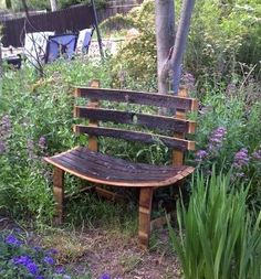 Upcycled Barrel Stave Bench