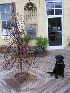 Wrought iron Christmas Tree....sweet