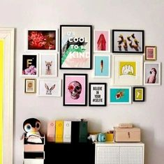 10 Signs Your Living Room Is Screaming For A Makeover Eclectic Gallery Wall, Gallery Wall Bedroom, Bedroom Wall Collage, Room Ideas Bedroom, Bedroom Decor, Collage On Wall, Gallery Wall Art, Pop Art Bedroom, Eclectic Wall Decor