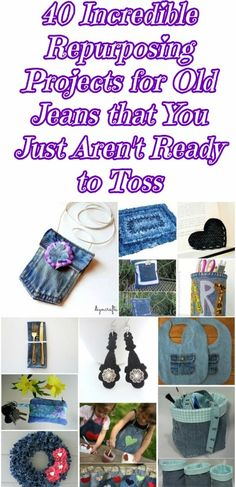 40 Incredible Repurposing Projects for Old Jeans that You Just aren't Ready to Toss