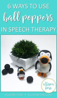 Ball poppers are a versatile toy and fun way to elicit language in speech therapy! You can use them to target many language goals, they are highly motivating and engaging, low cost, and can be used with a wide age range.