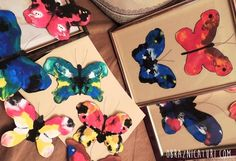 We learn how to make these butterflies in early grades, then we completely forgot about them.  But I revived this old technique, and improved it to paint the mo…