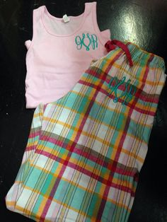 Monogrammed pajama set monogrammed pajama pants by stacysplace004, $32.00