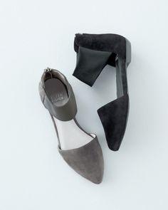 fc504739958 Eileen Fisher Allot Ankle-Wrap Ballet Flats - Garnet Hill Summer Boots