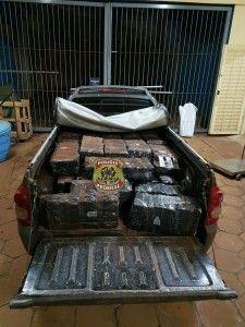 A Polícia Federal de Campo Grande apreendeu na madrugada desta quinta-feira (2) mais de meia tonelada de maconha escondida na carroceria de Chevrolet Montana. O veículo estava estacionado as margens d ...