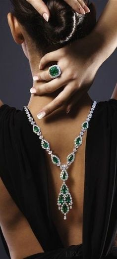Jewels by Jacob emerald and diamond | LBV