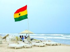 Labadi Beach in Accra, Ghana is a must-visit. White sands and blue skies.