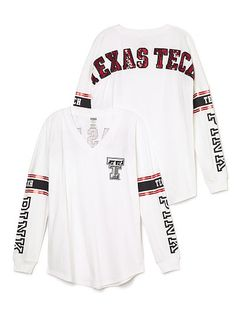 Texas Tech University Bling Varsity V-Neck Tee PINKMore Pins Like This At FOSTERGINGER @ Pinterest