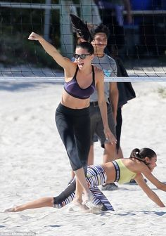 "Get in gear like Adriana in a pair of Victoria's Secret Sports leggings  Click ""Visit"" to buy #DailyMail"