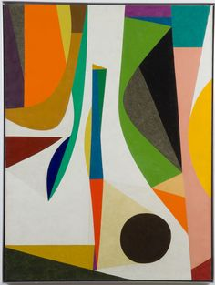 Up with in by Frederick Hammersley, 1957, oil on masonite in handmade frame, 48 x 36 inches