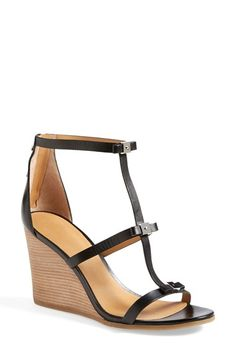 7a1ab69d002f81 MARC BY MARC JACOBS Cube Bow Leather Wedge Sandal Gladiator Sandalen  Absatz