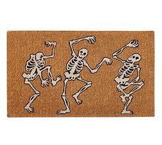 """Dancing Skeleton 18 x 30"""" Doormat #potterybarn"""