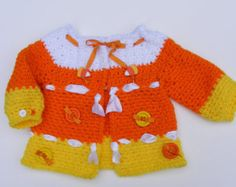 Crochet Sweater Pattern Baby Sweater Only Candy Corn Crochet Pattern Buy 2 get Free Crochet Pattern Permission to Sell No 67