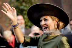 Dutch Queen Maxima waves as she attends the opening of the exhibition Een Koninklijk Paradijs (A Royal Paradise) at The Augustijnen Church in Dordrecht, on February 18, 2017.  / AFP / ANP / Remko de Waal / Netherlands OUT        (Photo credit should read REMKO DE WAAL/AFP/Getty Images)