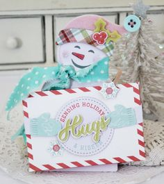 Snowman Gift Card Holder by Melissa Phillips for Papertrey Ink (October 2016)