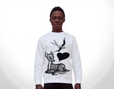 #fashion #sweater #fun #deer #swallow #girl #blogger #capsule #streetstyle immagine prodotto