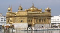 The Stunning Golden Temple of Amritsar, the Sikhs most Holy Shrine.