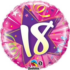 "Hot Pink Star 18 18"""