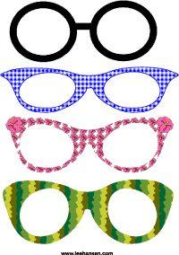 funny eyeglass frame masks