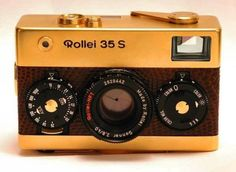 Rollei 35 S 24K Gold Camera. Shazam.