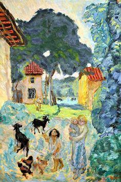 Pierre Bonnard - Village Scene, 1912