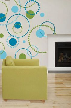Dotty Dot Wall Decals 3 color  Large Pkg by WallGlitz on Etsy, $95.00