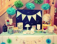 "Vintage Schoolhouse / Baby Shower ""T is for Twins Baby Shower"" 