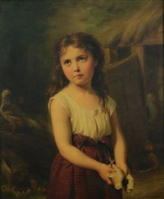 Girl with chicks (Fritz Zuber-Buhler)