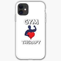 'Gym Therapy & Graphic Design With Big Heart' iPhone Case by Sell Your Art, Iphone Case Covers, Cover Design, Iphone 11, Therapy, Gym, Graphic Design, Printed, Heart