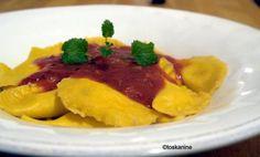 Rezept: Kürbis-Ravioli mit Tomatensauce