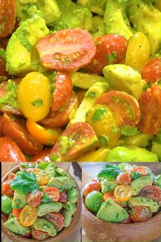 Avocado Salad - Healthy and so flavorful, this Avocado Tomato Salad makes a great addition to your dinner or lunch. Easter Dinner Recipes, Healthy Dinner Recipes, Cooking Recipes, Cooking Tips, Healthy Salads, Healthy Eating, Avocado Salad Recipes, Vegetable Salad Recipes, Avocado Smoothie