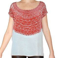 Gorgeous hand painted silk tee by sherrie