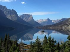 It was one of those perfect days at Glacier National Park in Montana. Sigh. Photo of the park's Wild Goose Island by National Park Service.