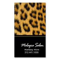 Earring jewelry display modern leopard print business card card animal print sexy leopard designer business card reheart Images
