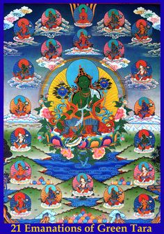Tara: Goddess of many Faces Mantra para a Deusa Tara : Om tare tutare ture soha OM significa os sagrados corpo, fala e mente de Tara. TARE Aquela que liberta do sofrimento verdadeiro. TUTTARE que elimina todos os medos. TURE que concede todo o sucesso. SOHA significa possa o significado do mantra enraizar-se em minha mente.