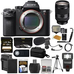 Sony Alpha A7R II 4K Wi-Fi Digital Camera Body with FE 24-240mm Lens   64GB Card   Battery   Charger   Case   Flash   LED   Tripod   Kit ** Read more  at the image link.