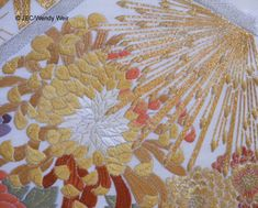 Japanese embroidery advanced piece, detail.