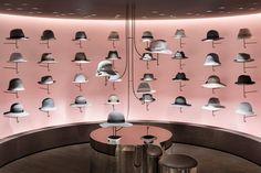 View full picture gallery of Seibu Shibuya Boutique Cuir, Nendo Design, Design Design, Hat Display, Hat Stores, Tokyo Hotels, Retail Merchandising, Pink Walls, Retail Design