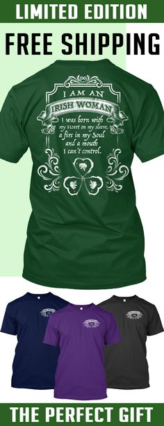 Irish Woman - Limited edition. 2 days left for Free Shipping. Makes a perfect gift!