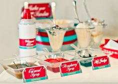 Retro Diner Party Coke Float Party Ice by HelloMySweet Retro Birthday Parties, 50s Theme Parties, 50th Birthday Party, Birthday Party Decorations, Party Themes, Party Ideas, Gift Ideas, Fifties Party, 1950s Party