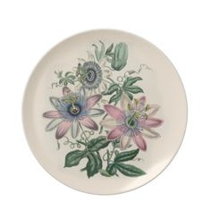Plate - Serving Dish - Wall Plate Gorgeous vintage illustration of a beautiful passion vine with passion flowers and fruit. A lovely serving dish or wall hanging.